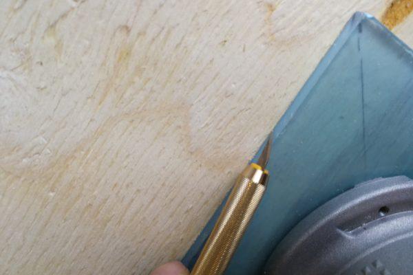 Kniv bruges til præcis markering